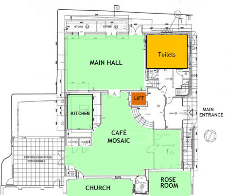 Lower floor room plan