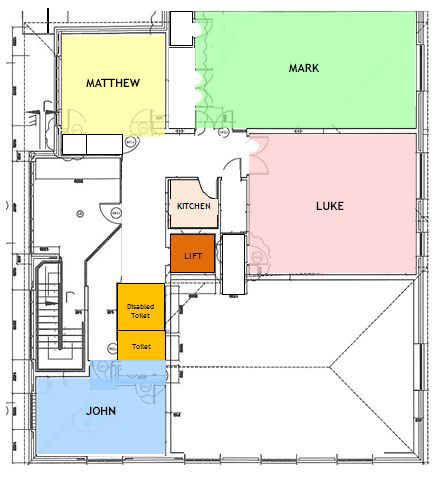 Upper floor room plan